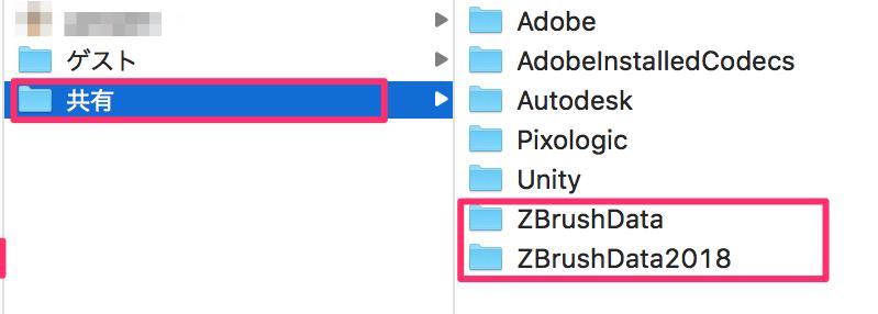 ZBrushDataは2つある